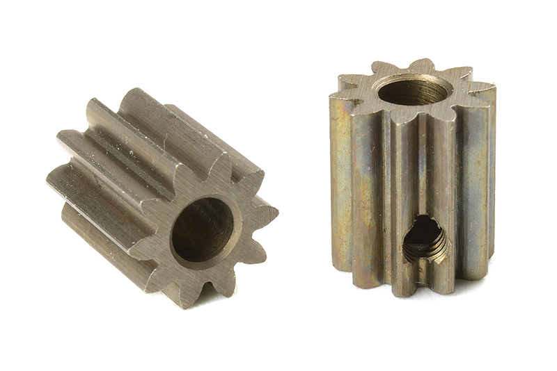 Team Corally - C-71610 - M0.6 Pinion - Short - Hardened Steel - 10 Teeth - Shaft Dia. 3.17mm