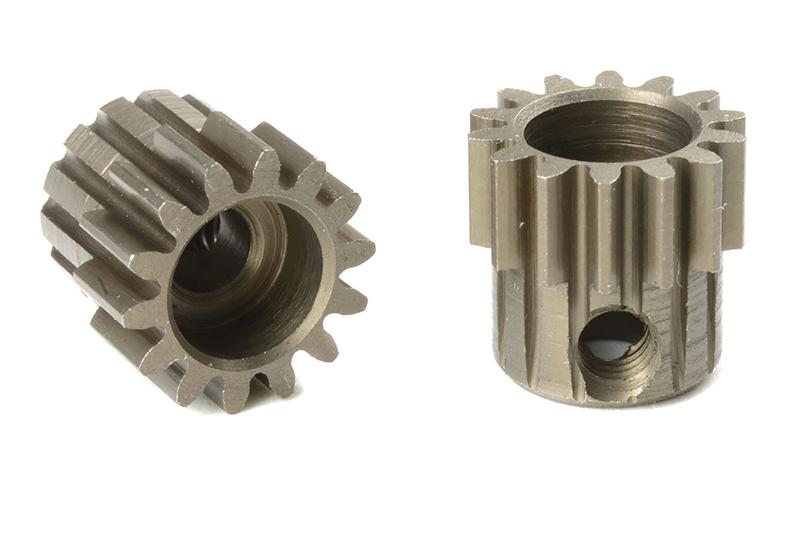 Team Corally - C-71614 - M0.6 Pinion - Short - Hardened Steel - 14 Teeth - Shaft Dia. 3.17mm