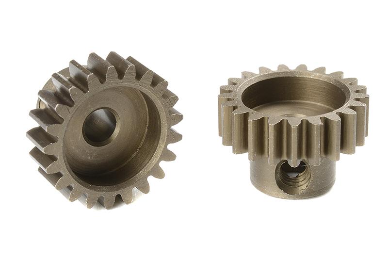 Team Corally - C-71621 - M0.6 Pinion - Short - Hardened Steel - 21 Teeth - Shaft Dia. 3.17mm