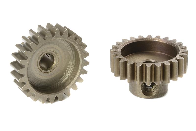 Team Corally - C-71624 - M0.6 Pinion - Short - Hardened Steel - 24 Teeth - Shaft Dia. 3.17mm