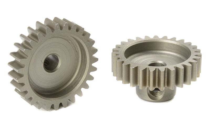 Team Corally - C-71627 - M0.6 Pinion - Short - Hardened Steel - 27 Teeth - Shaft Dia. 3.17mm