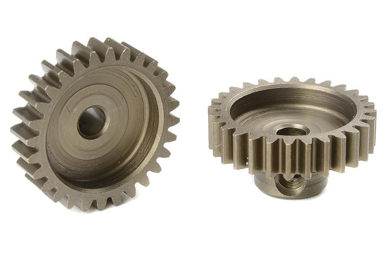 Team Corally - C-71628 - M0.6 Pinion - Short - Hardened Steel - 28 Teeth - Shaft Dia. 3.17mm