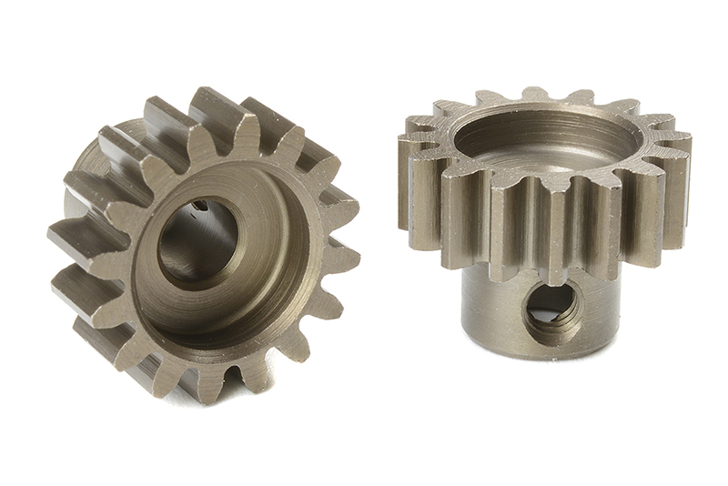 Team Corally - C-72716 - M1.0 Pinion - Short - Hardened Steel - 16 Teeth - Shaft Dia. 5mm
