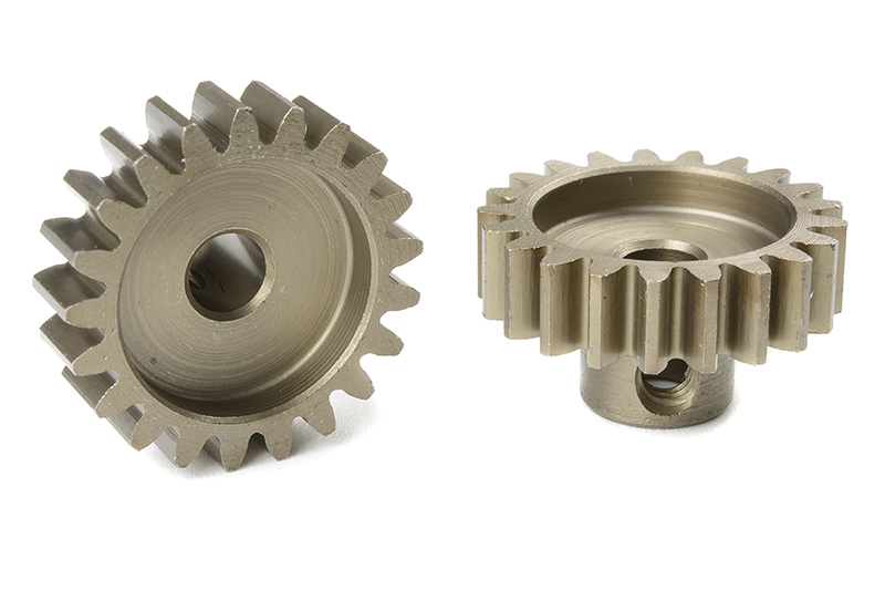Team Corally - C-72721 - M1.0 Pinion - Short - Hardened Steel - 21 Teeth - Shaft Dia. 5mm