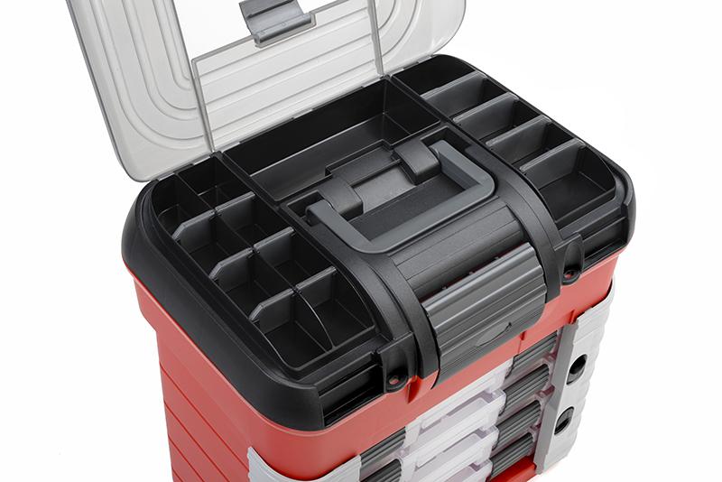 Team Corally - C-90251 - Pit Case - 4 Assortment Box Drawers - Universal Pre-Cut Foam