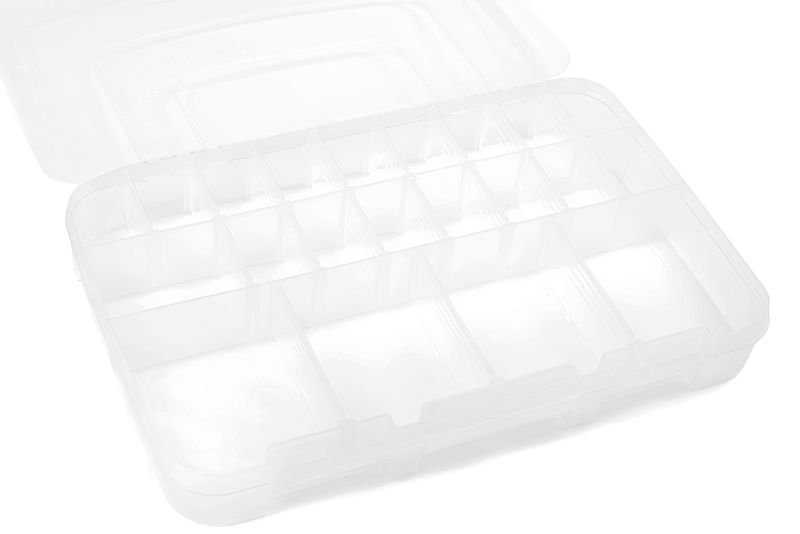 Team Corally - C-90255 - Assortment Box - Large - 3-21 Adjustable Compartments - 364x248x50mm