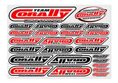 Team Corally - C-99920 - Sponsor Stickersheet CORALLY - Precut - 210x148mm - 1 pc
