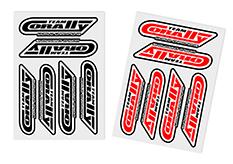 Team Corally - C-99921 - Sponsor Stickersheet CORALLY - Precut - 105x75mm - 2 pcs