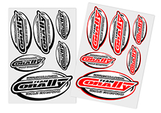 Team Corally - C-99922 - Sponsor Stickersheet CORALLY - Precut - 105x148mm - 2 pcs
