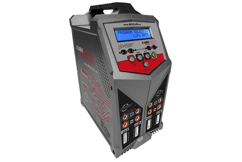 RC Plus - RC-CHA-210 - Cube 100 Quad Charger - AC-DC - 4x 100 Watt