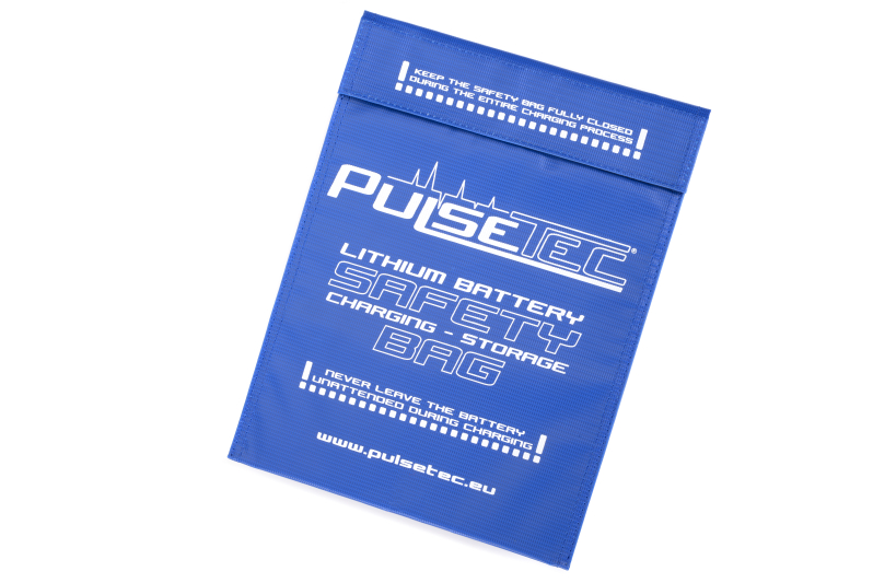 Pulsetec - PC-010-001 - Lithium Battery Safety Bag - Charging - Storage - 30x23cm