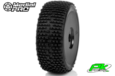Medial Pro - MP-6425-M3 - Racing Tires glued on Rims - Viper - M3 Soft - Buggy 1/8 - 17mm Hex - White Rims