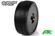 Medial Pro - MP-6435-M4 - Racing Tires glued on Rims - Blade - M4 Super Soft - Buggy 1/8 - 17mm Hex - White Rims