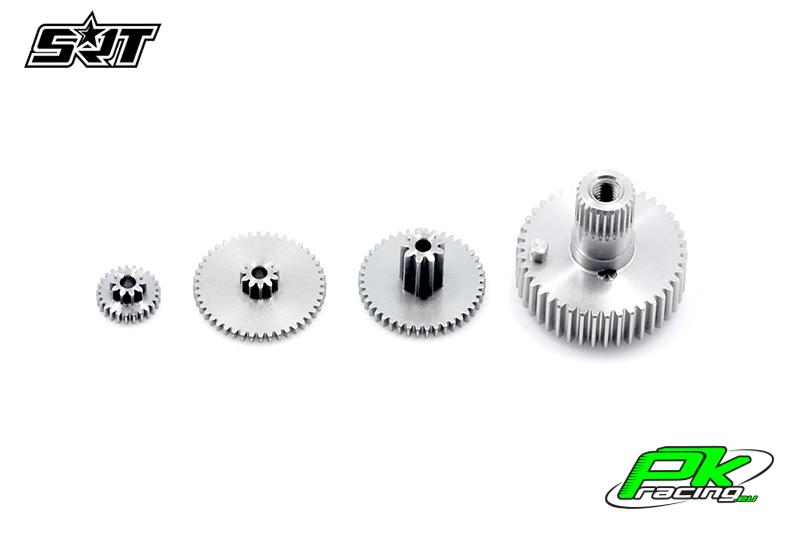 SRT - Servo Gear Set - BH6015 - Titanium / Alu