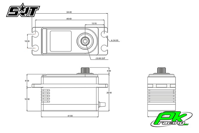 SRT - Servo BH6015 - Digital - Low Profile - Brushless - HV - Titanium/Alu Gears - 15kg/0.05sec@8.4V - Plastic/Alloy Case