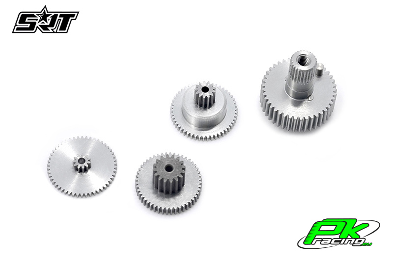 SRT - Servo Gear Set - BH6027 - Titanium / Alu