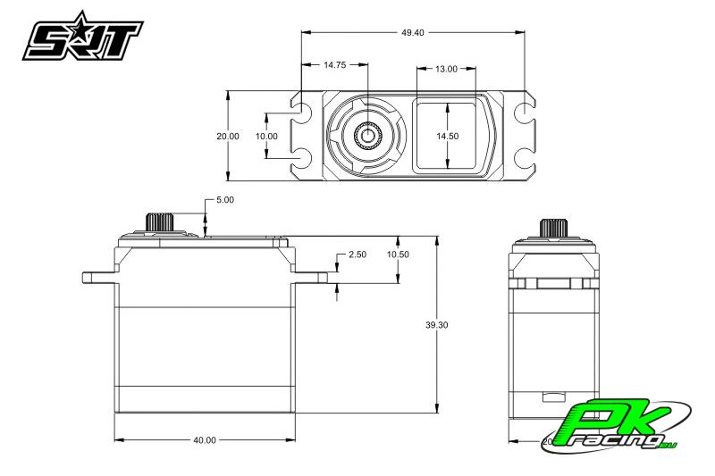SRT - Servo BH9012 - Digital - Brushless - HV - Titanium/Alu Gears - 12kg/0.035sec@8.4V - Full Alloy Case