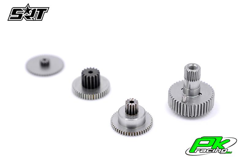 SRT - Servo Gear Set - BH9027R - Titanium / Steel