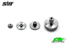 SRT - Servo Gear Set - CH7012 - Titanium / Alu
