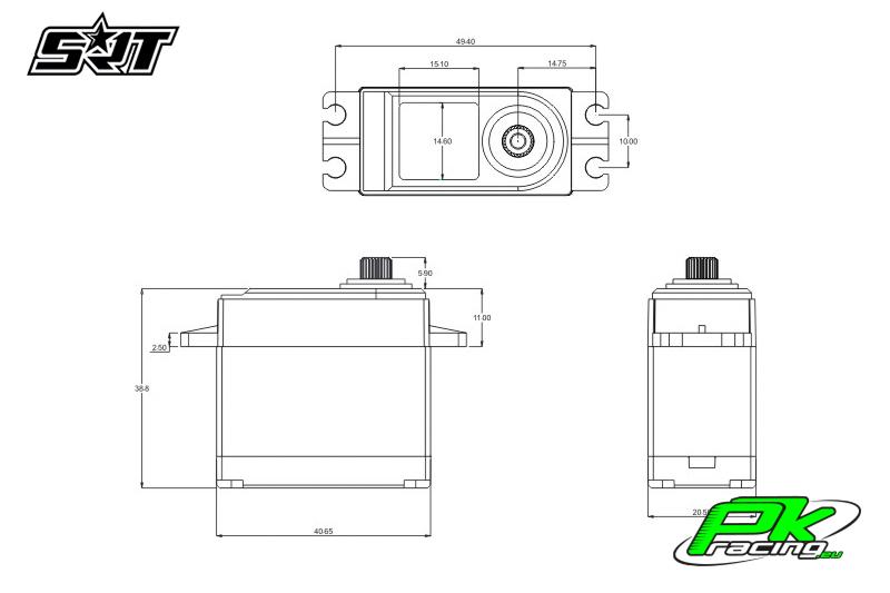 SRT - Servo DL5015 - Digital - Core Motor - LV - Copper/Alu Gears - 15kg/0.13sec@6.0V - Waterproof  - Plastic/Alloy Case