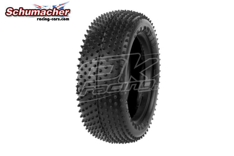Schumacher - U6601 - Buggy 1/10 Tires - Mini Pin - Front 4WD - Blue Compound - 1 Pair