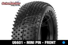 Schumacher - U6601 - Buggy 1/10 Tires - Mini Pin - Front 4WD - Blue Compound - 1 Pair