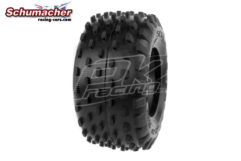 Schumacher - U6708 - Truck Tires 1/10 - Stagger Rib - Yellow Compound - 1 Pair