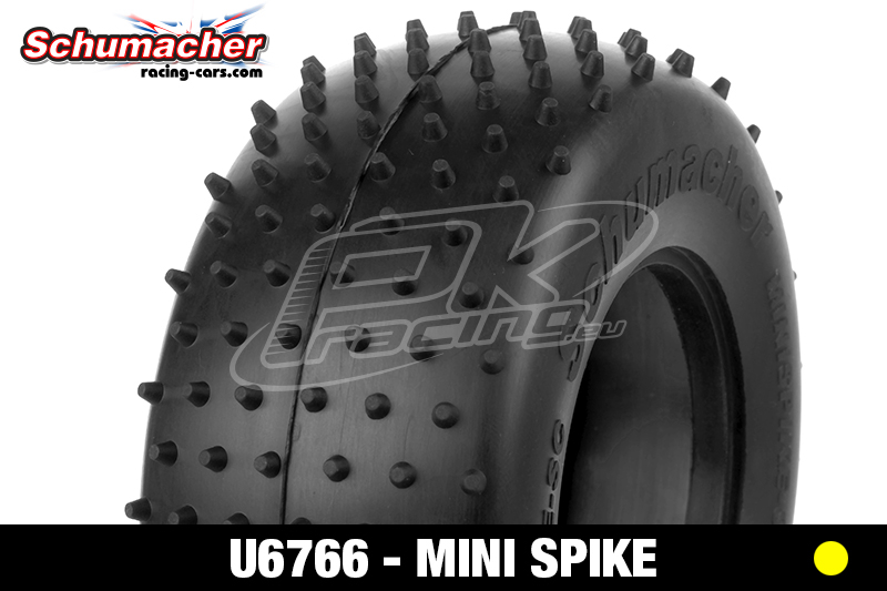 Schumacher - U6766 - Short Course Tires 1/10 - Mini Spike - Yellow Compound - 1 Pair