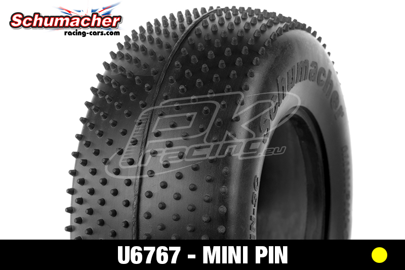 Schumacher - U6767 - Short Course Tires 1/10 - Mini Pin - Yellow Compound - 1 Pair
