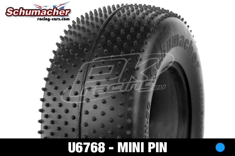 Schumacher - U6768 - Short Course Tires 1/10 - Mini Pin - Blue Compound - 1 Pair