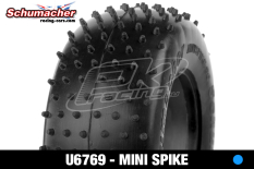 Schumacher - U6769 - Short Course Tires 1/10 - Mini Spike - Blue Compound - 1 Pair