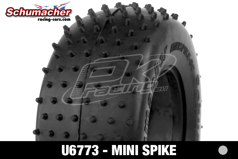 Schumacher - U6773 - Short Course Tires 1/10 - Mini Spike - Silver Compound - 1 Pair