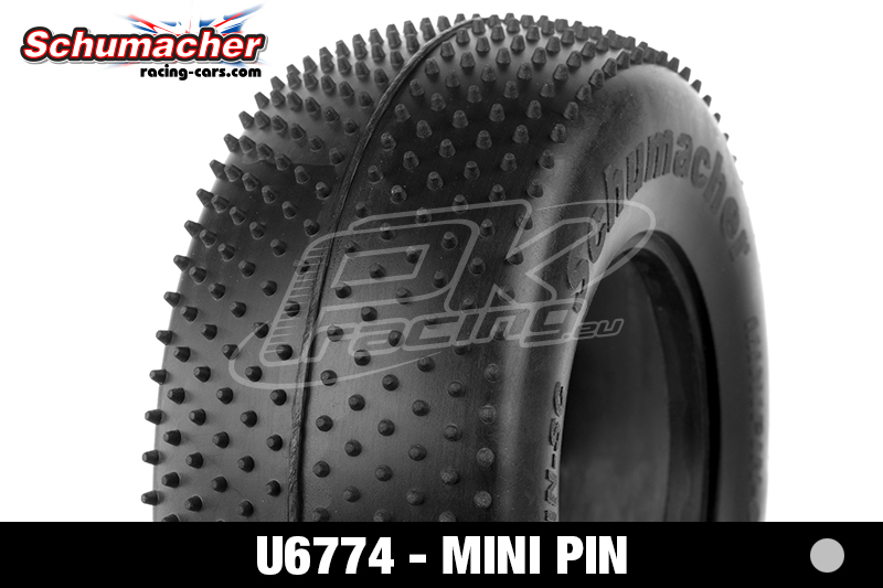 Schumacher - U6774 - Short Course Tires 1/10 - Mini Pin - Silver Compound - 1 Pair