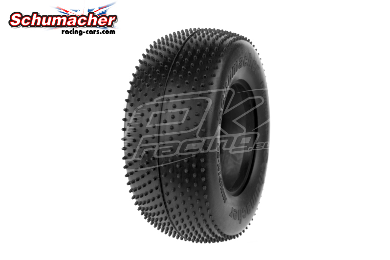 Schumacher - U6774 - Short Course Tires 1/10 - Mini Pin - Silver Compound - 1 Pair