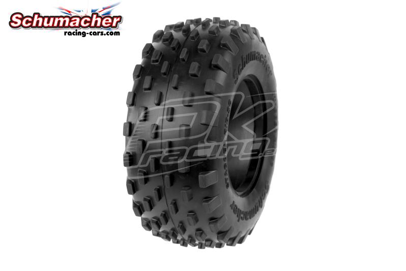 Schumacher - U6781 - Short Course Tires 1/10 - Stagger Rib - Yellow Compound - 1 Pair
