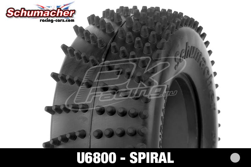 Schumacher - U6800 - Short Course Tires 1/10 - Spiral - Silver Compound - 1 Pair