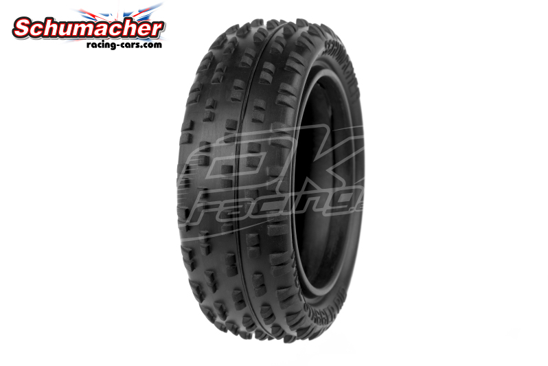 Schumacher - U6810 - Buggy 1/10 Tires - Wide Stagger - Front 4WD - Yellow Compound - 1 Pair