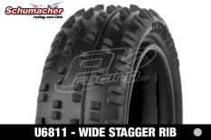 Schumacher - U6811 - Buggy 1/10 Tires - Wide Stagger - Front 4WD - Silver Compound - 1 Pair