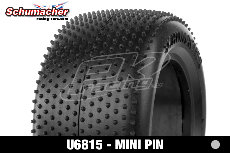 Schumacher - U6815 - Truck Tires 1/10 - Mini Pin - Silver Compound - 1 Pair