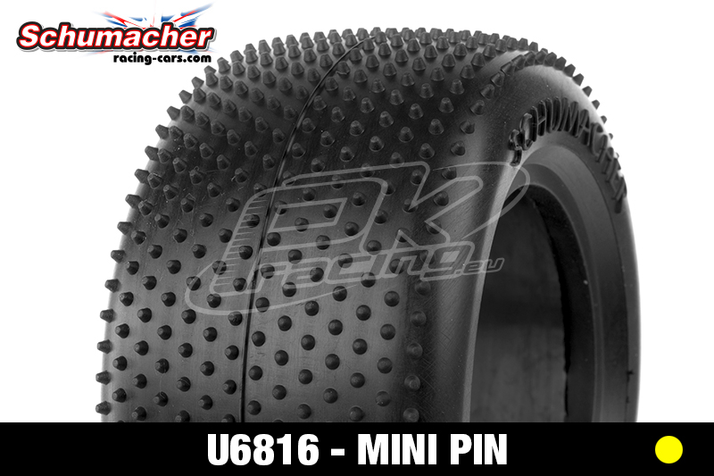 Schumacher - U6816 - Truck Tires 1/10 - Mini Pin - Yellow Compound - 1 Pair