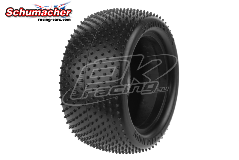 Schumacher - U6817 - Buggy 1/10 Tires - Mini Pin 1 - Rear 2/4WD - Yellow Compound - 1 Pair