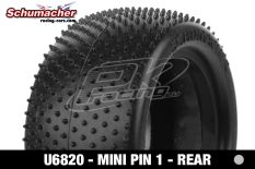 Schumacher - U6820 - Buggy 1/10 Tires - Mini Pin 1 - Rear 2/4WD - Silver Compound - 1 Pair