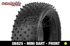 Schumacher - U6825 - Buggy 1/10 Tires - Mini Dart - Front 4WD - Yellow Compound - 1 Pair