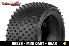 Schumacher - U6826 - Buggy 1/10 Tires - Mini Dart - Rear 2/4WD - Yellow Compound - 1 Pair