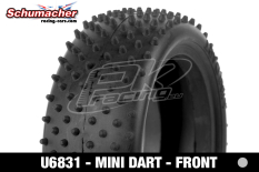 Schumacher - U6831 - Buggy 1/10 Tires - Mini Dart - Front 4WD - Silver Compound - 1 Pair