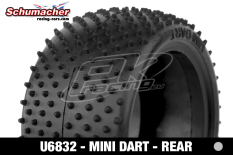 Schumacher - U6832 - Buggy 1/10 Tires - Mini Dart - Rear 2/4WD - Silver Compound - 1 Pair