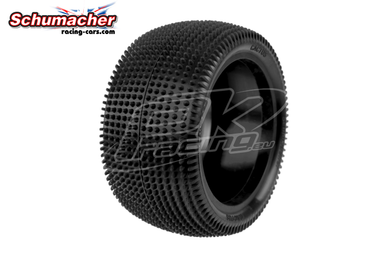 Schumacher - U6838 - Buggy 1/10 Tires - Cactus - Rear 2/4WD - Yellow Compound - 1 Pair
