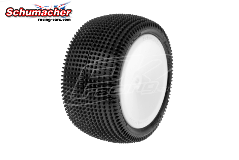 Schumacher - U6839 - Buggy 1/10 Tires - Cactus - Rear 2/4WD - Yellow Compound - Glued on Rims - 1 Pair