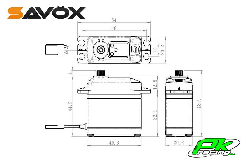 Savox - SA-1230SG - Digital Servo - Coreless Motor - Steel Gear
