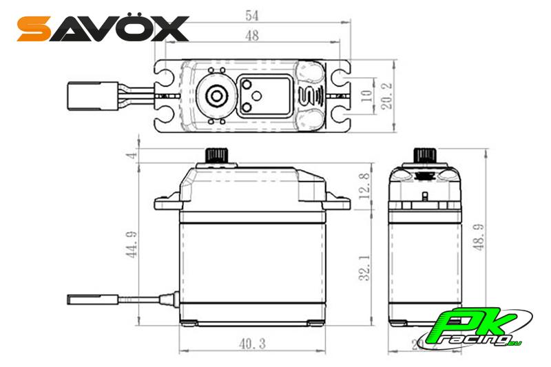 Savox - SA-1231SG - Digital Servo - Coreless Motor - Steel Gear